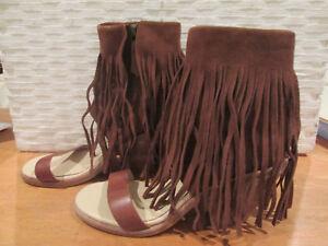 b8d6fb0652d Details about WOMEN'S UGG KOOLABURRA SHOES SIZE 8.5M PIAZ LADIES BROWN  FRINGE BOOTS SIDE ZIP