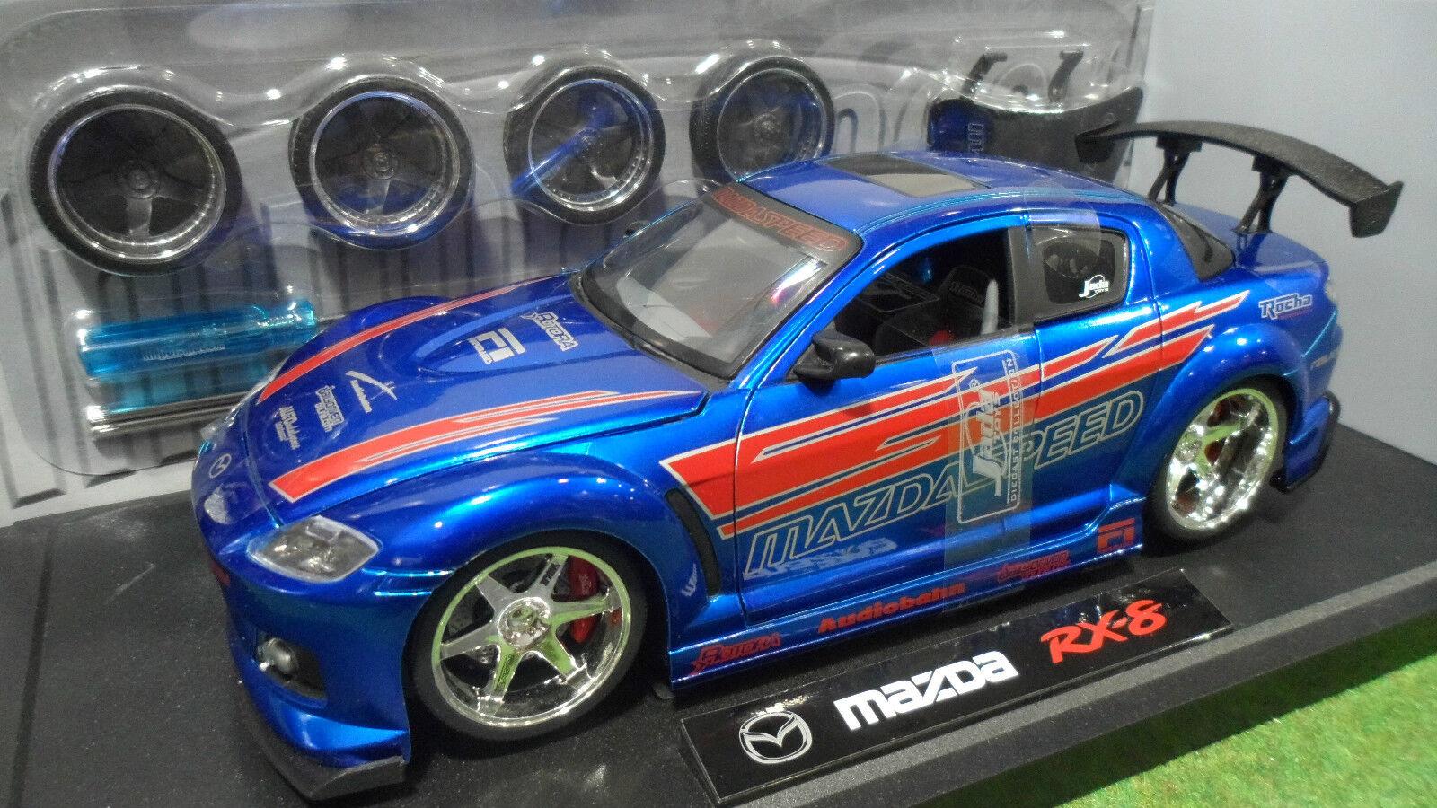 MAZDA RX-8 TUNING Bleu au 1 18 JADATOYS IMPORT RACER 63284 voiture miniature