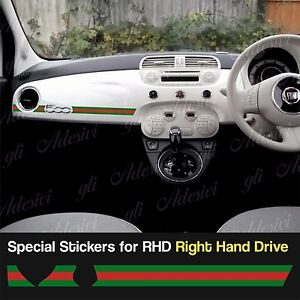 833bdea83f0a Stickers Fiat 500 Gucci Line dashboard Abarth for Right Hand Drive ...