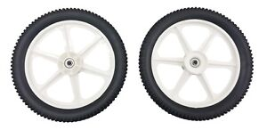 "(2) 189159 Wheels For Craftsman Walk-behind Lawn Mower 14"" High Poulan Husqvarna"