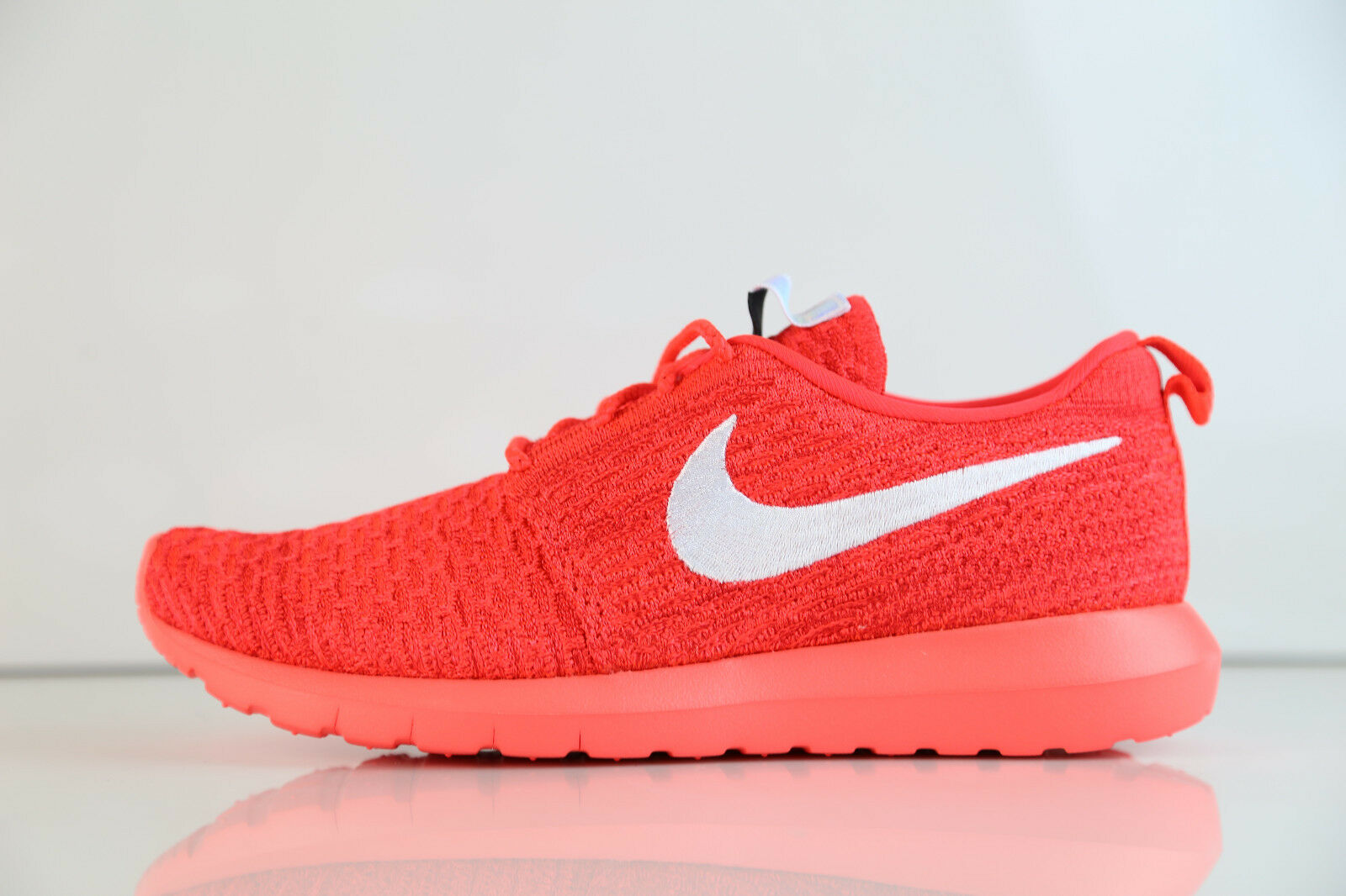 Nike Roshe Run Flyknit Bright Crimson White 677243-604 8-11 10 free