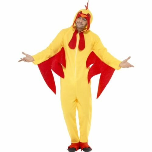 Unisex Kostüm Chicken Huhn Overall Karneval Fasching Smi