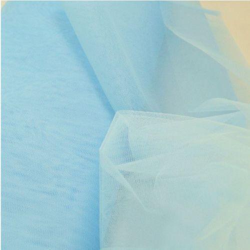 Fine Soft Craft Wedding Bridal Party Festival Mesh Fabric-1m x 300cm-Powder Blue