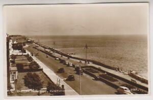 Essex-Postkarte-Ostlich-Strandpromenade-Clacton-on-Sea-P-U-1959-a340