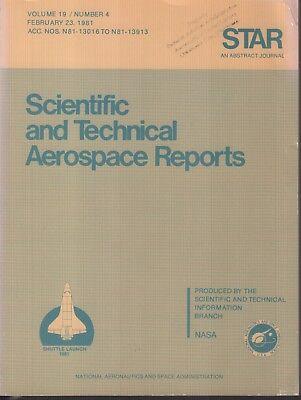 Astronauts & Space Travel Impartial Nasa Star Volume 19 #4 February 23 1981 Abstract Journal Ex-faa 121918ame2 Historical Memorabilia