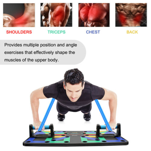 18 in1 Push Up big Board Rack System Fitness Workout Gym Exercise Pushup Stand