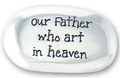OUR FATHER WHO ART IN HEAVEN THE LORD/'S PRAYER METAL THUMB  COMFORT WORRY STONE