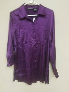 48e9c9a806b0d Image is loading SUTTON-STUDIO-SILK-STRETCH-BLOUSE-MULBERRY-10