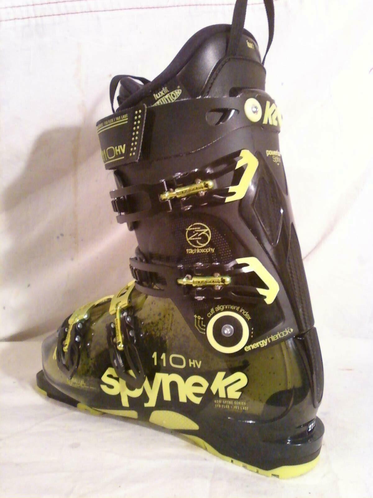 K2 Pinnacle 110 102mm Ski BOOTS Mens 9