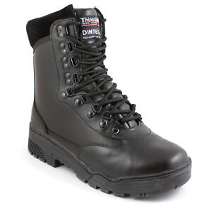 Black Low Short Military Combat Army Tactical Security Police Boots ALL SIZES