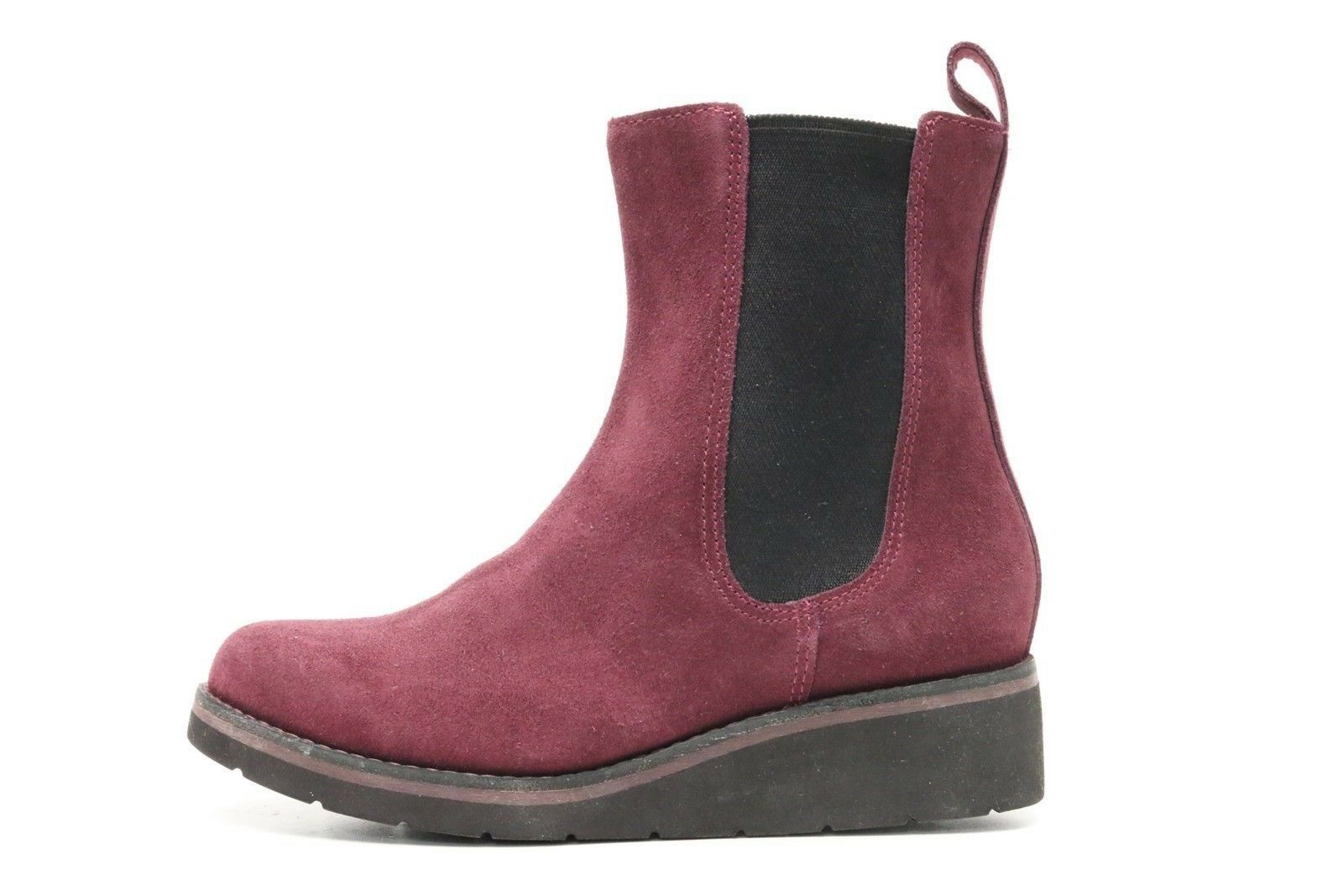 Womens COLE HAAN 22234 claret suede leather pull on short boots sz. 6 B NEW  288