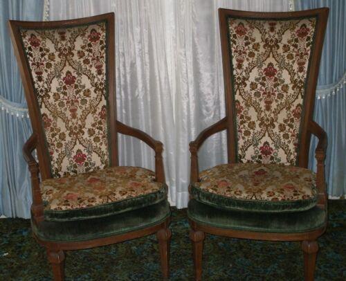 Pair of Statesville High Back Chairs Made of Plush Velvet-Like Material