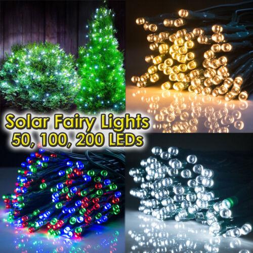 100 200 300 DEL String Solar Powered Fairy Lights Garden Christmas Outdoor Decor