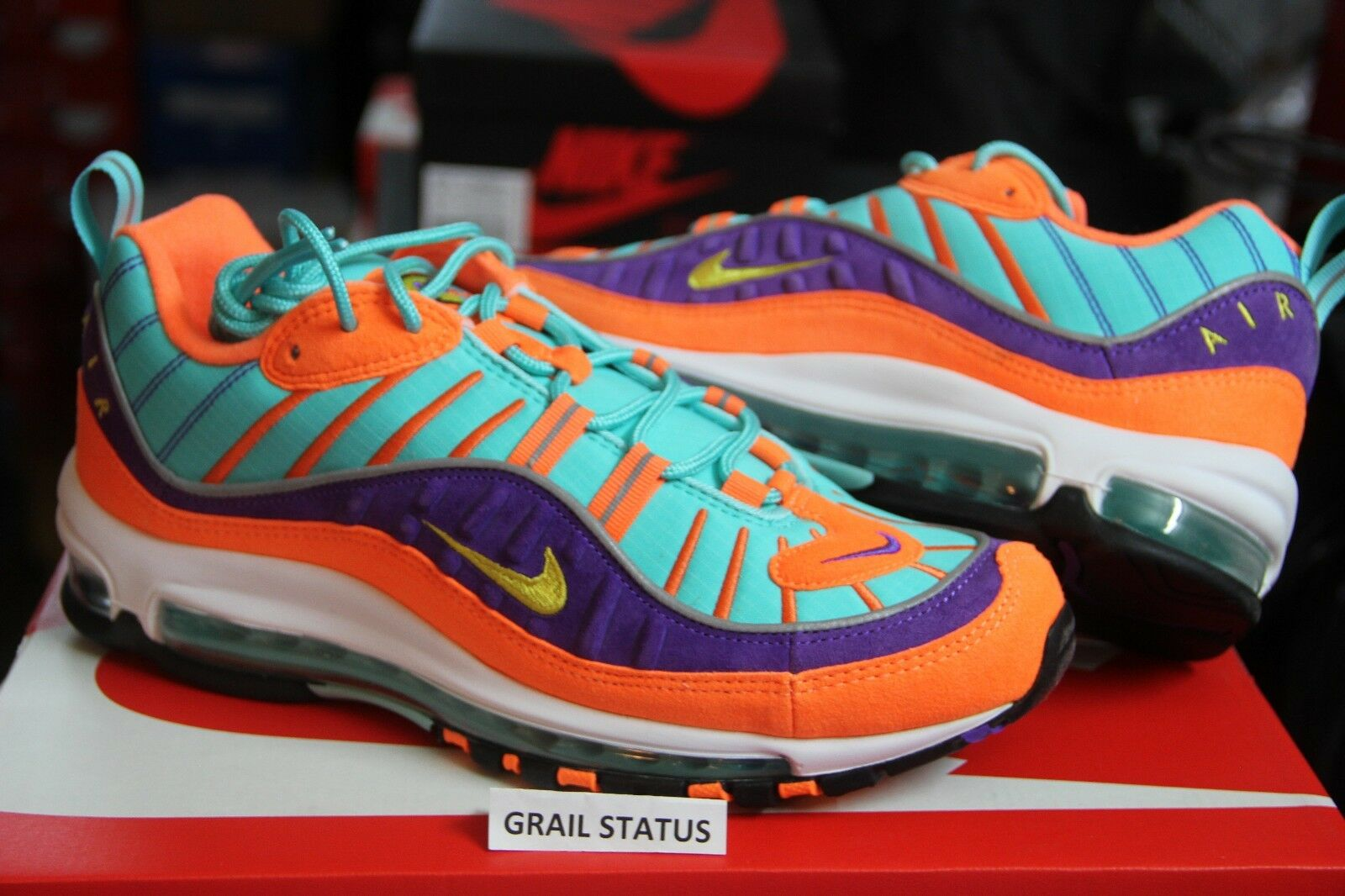 Nike Air Max 98 Cone Tour Yellow Hyper Grape QS 924462-800 lot Men Price reduction Comfortable and good-looking