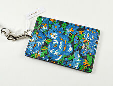 COACH F57990 LANYARD ID CASE FLOWER BLUE MULTI $65