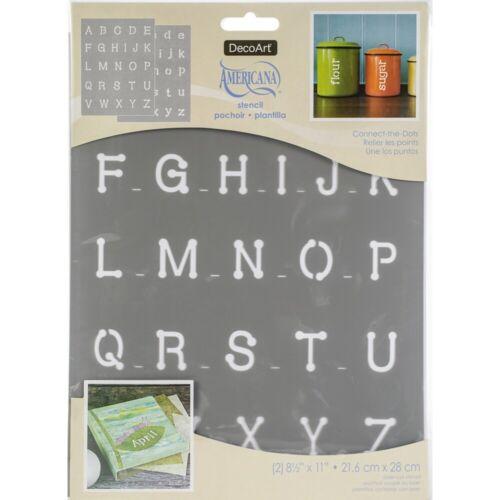 "Americana Alphabet Stencils 8.5/""x11/""-connect The Dots"