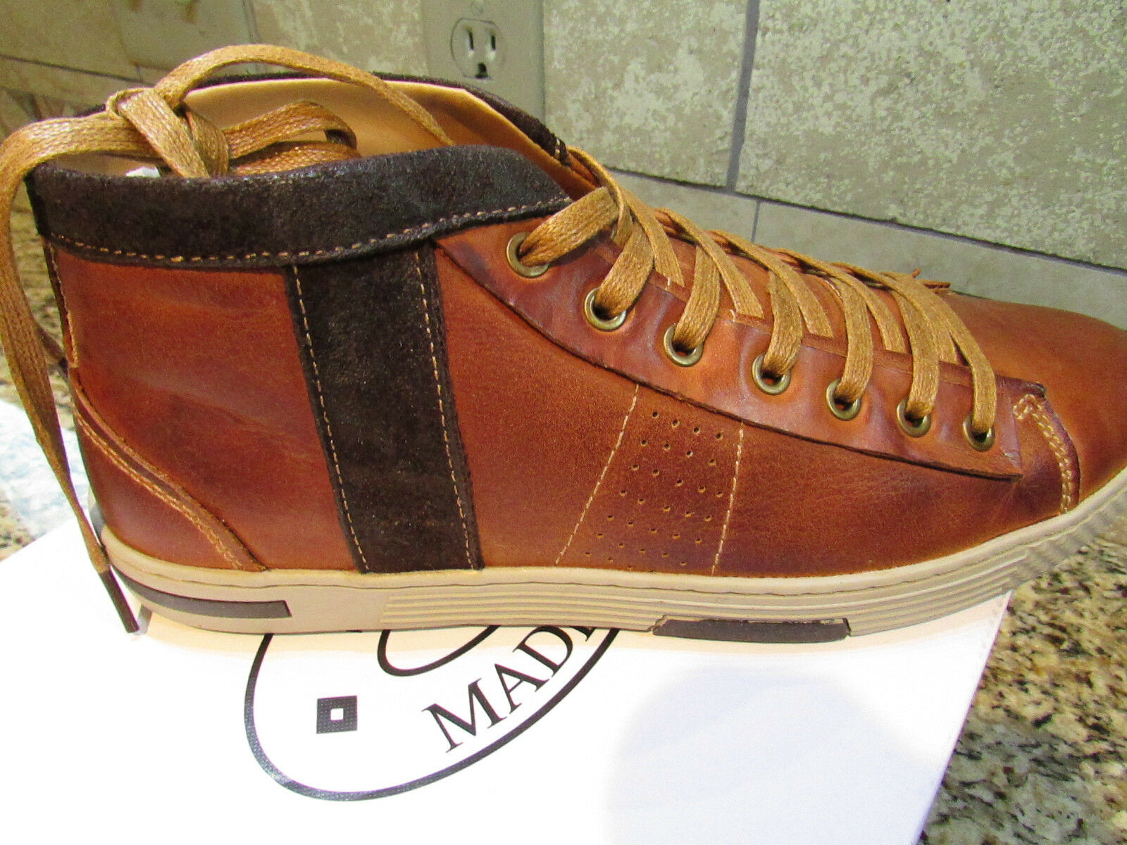 Scarpe casual da uomo  NEW STEVE MADDEN INFORMER COGNAC LEATHER LACE UP SHOES uomoS 11 FREE SHIP