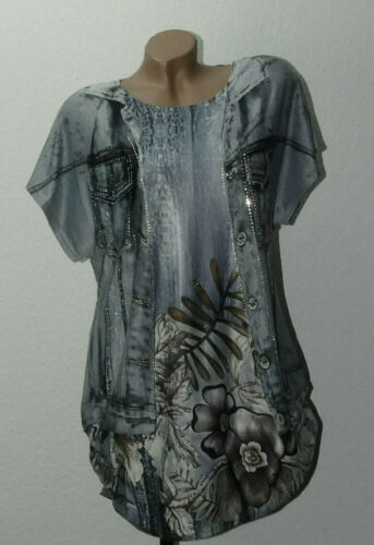 Longshirt Tunika Shirt Bluse Oberteil T-Shirt Classic GR 40-42-44-46 Lagenlook
