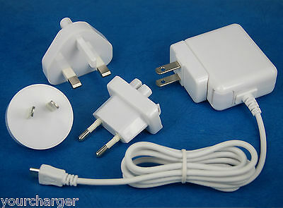 5V 2A AC Adapter Wall Charger 4 Samsung Galaxy Note 10.1 2014 SM-P605 P601 P600