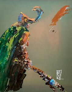 ORIGINAL-Abstract-Loki-Tom-HIddleson-MCU-Marvel-Comic-Art-Painting-11x14-034