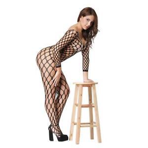 Image Is Loading Bodystocking Crotchless Bodysuit Sexy Fishnet Lingerie Women Nightwear