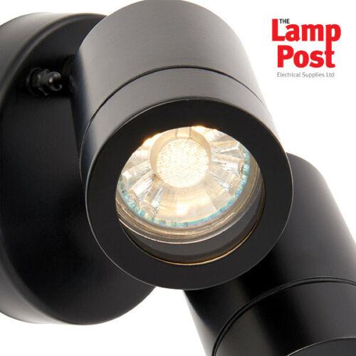 Saxby 75437 Palin-Jardin Extérieur Réglable IP44 Mur Twin Light-Matt Black