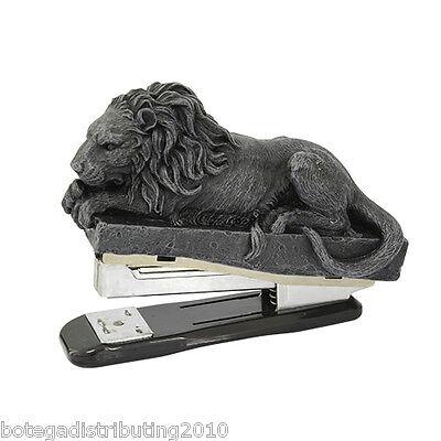 Grey Lion Desk Dragon Stapler Office Accessory  Home Decor Paper Stapler