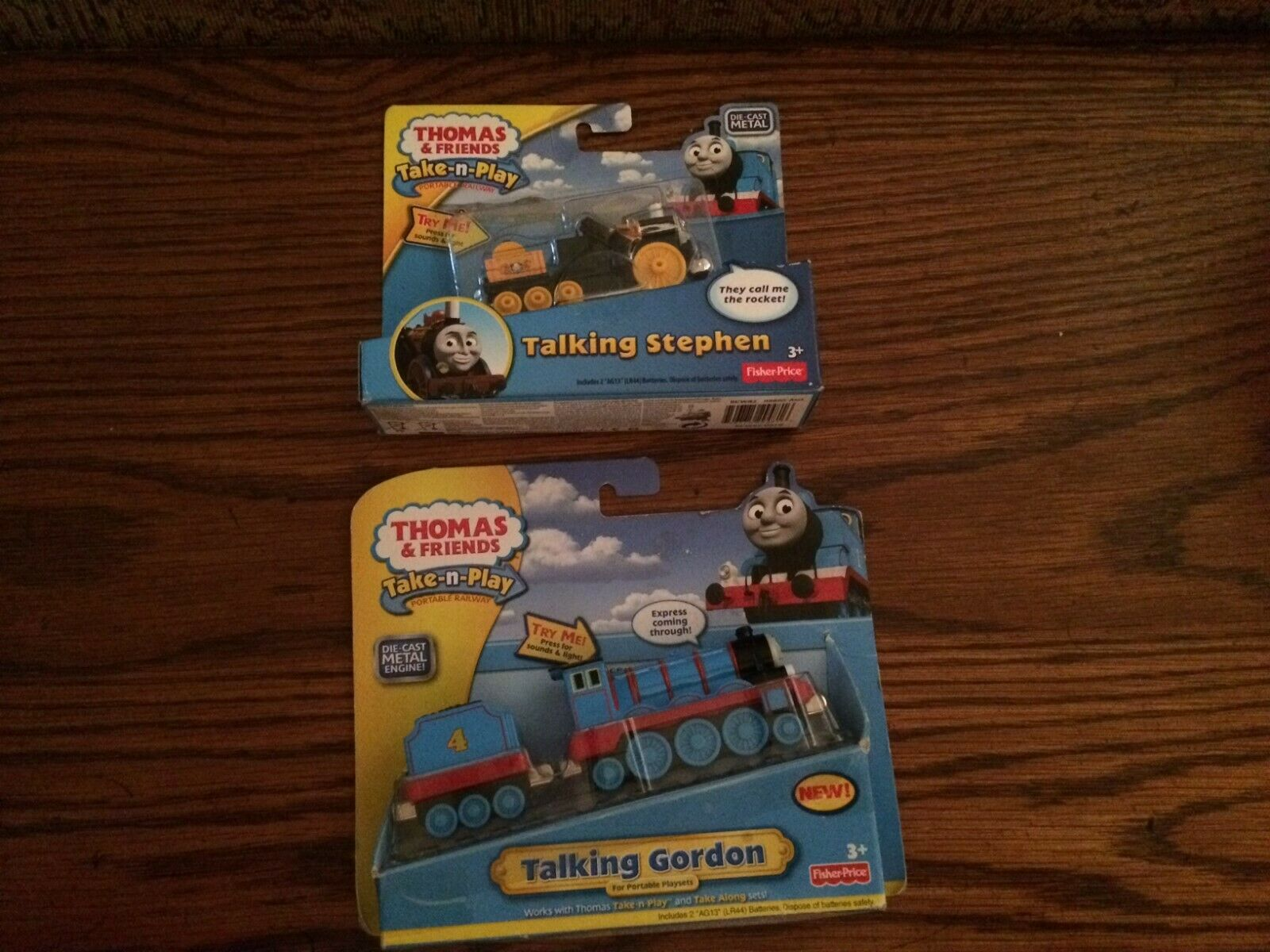 Talking Gordon & Stephen for the Die-Cast Thomas and Friends Take-n-Play NEW