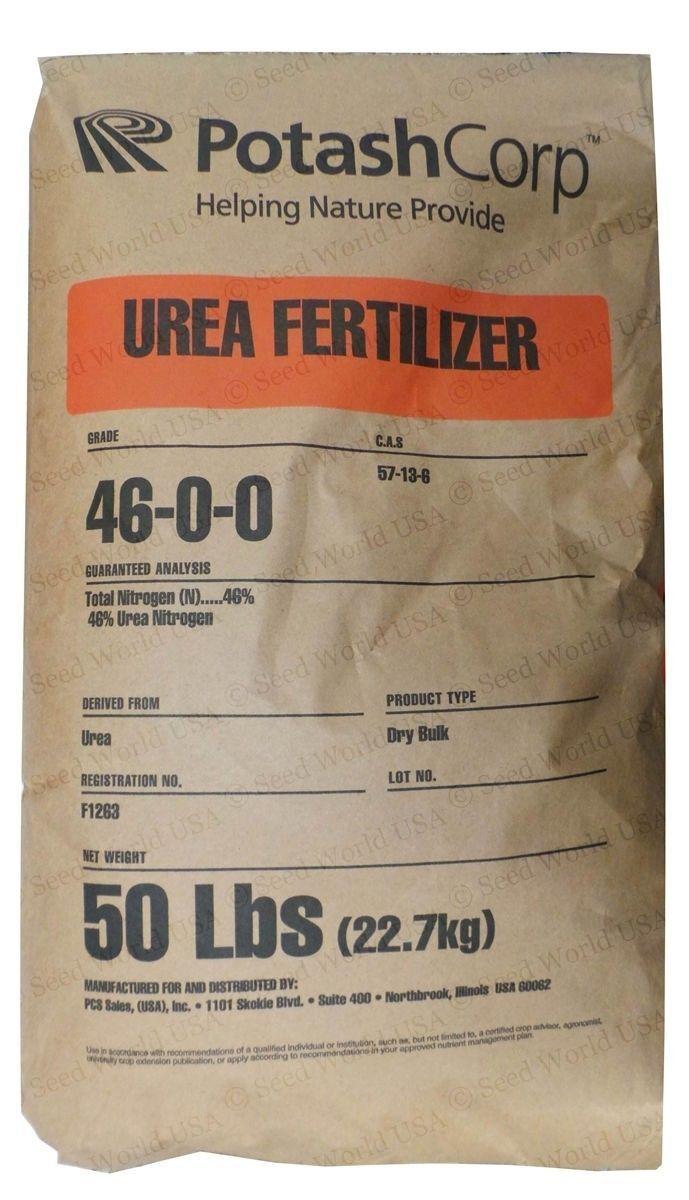 Abono nitrógeno ureico puro 46-0-0 granular - 50 Lbs. (envío gratuito)