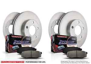 Power Stop KOE6939 Front and Rear Stock Replacement Brake Kit