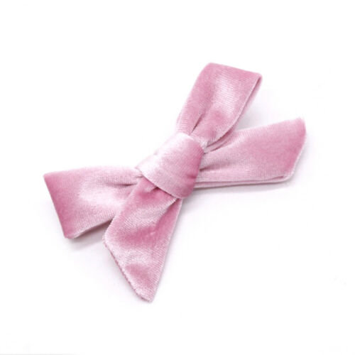 Kids Soft Velvet Bow Hairpins Solid Cross Knot Hair Clip Girls Hair Accessory #F