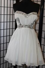 Short dress homecoming/party/prom sz 5/6  white