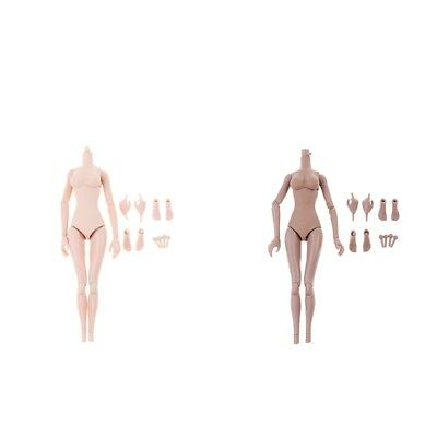 2Set 1//6 Scale Female Seamless Body for 12/'/' Action Figure Normal Tan Skin