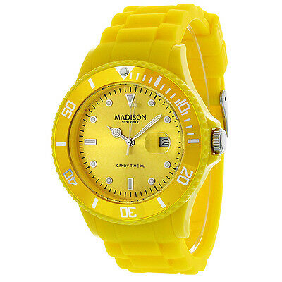 Madison Candy Time XL Yellow Mens Watch G4167-02-1