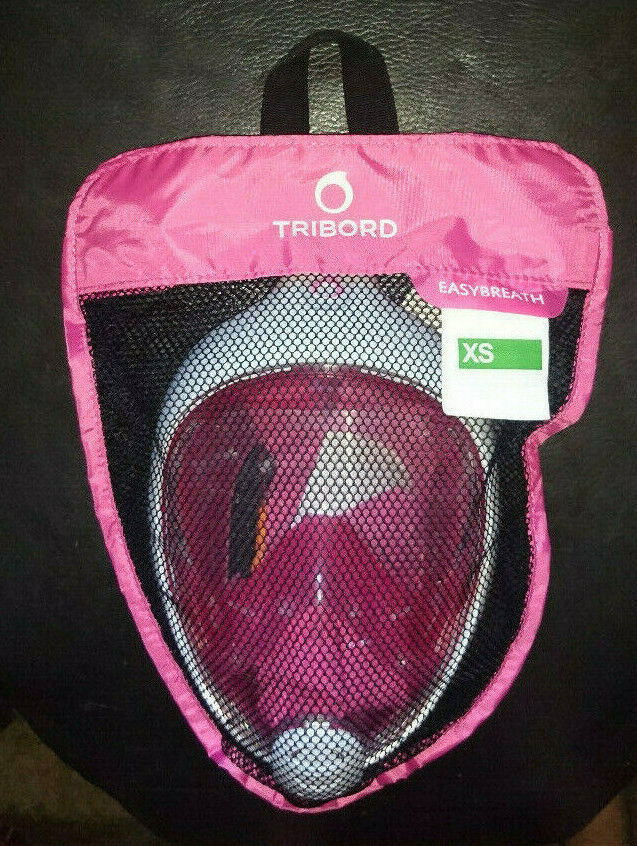 THE ORIGINAL Tribord (SUBEA) Easybreath® Snorkeling Mask, PINK, size XS, SUPERB