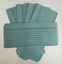 Vintage década de 1970 sin usar computadora IBM-Tipo de entrada de tarjetas perforadas X 5 Azul, Muy Raro