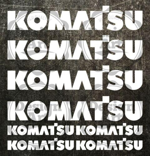 Komatsu M aufkleber sticker bagger excavator 8 Stücke Pieces