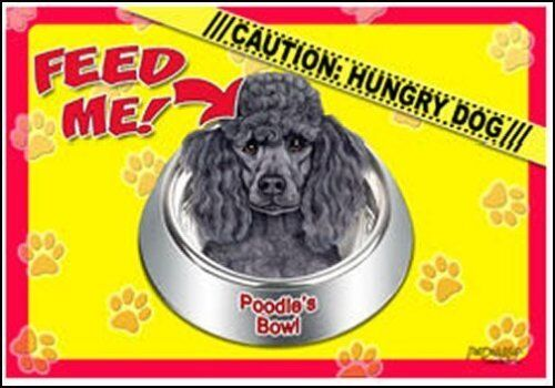 "Poodle black 17/""x11 1//2/"" 2-Sided Color Dog Placemat"