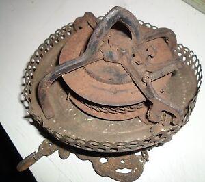 Antique Bradley Amp Hubbard Hanging Oil Lamp Retractor Motor