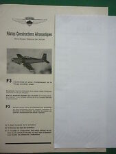 6/1958 PUB PILATUS P.3 AVION ECOLE SWISS AIRCRAFT FLUGZEUG ORIGINAL FRENCH AD