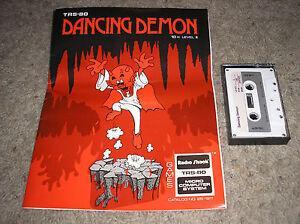 Dancing-Demon-Radio-Shack-16K-Level-II-TRS-80-Computer-Cassette-Game-VERY-RARE
