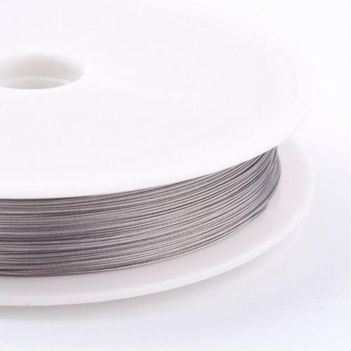 Gris clair Queue de Tigre fil Beading Wire 0.3 mm 50 m rouleau pour bijoux à coudre