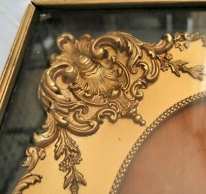 ANTIQUE FITS 9 X12 GOLD FRENCH BAROQUE SHADOW PICTURE FRAME WOOD ORNATE FINE ART