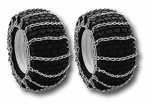 The ROP Shop Pair 2 Link TIRE Chains 24x12-12 for Sears Craftsman Lawn Mower Tractor Rider 5558999330