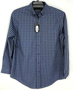 Roundtree Yorke Gold Label Mens Shirt XLT 3XB Long Sleeve Blue New 2XB 2XT