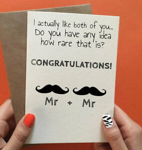 Image is loading Cheeky-Zebra-Wedding-Card-For-Gay-Couple-Cards- & Cheeky Zebra Wedding Card For Gay Couple Cards Funny Gay Wedding ...