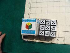 Vintage Cube puzzle: in box: SPORTS golf soccer tennis football baseball basketb