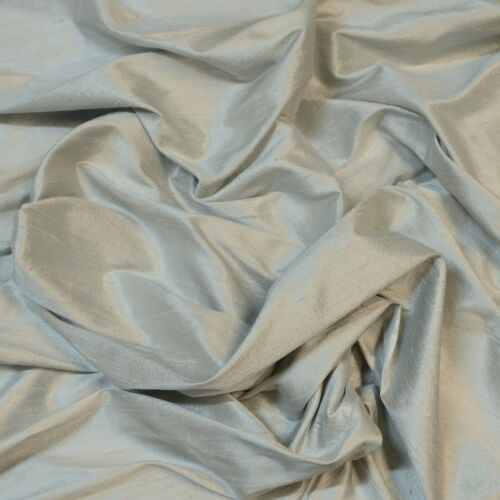 "By The Yard 54/"" Wide S-272 Iridescent Cobblestone Dupioni 100/% Silk Fabric"