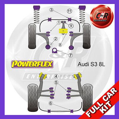 Audi S3 Quattro Mk1 8L 99-03 POWERFLEX FRONT ANTI ROLL BAR BUSHES 20mm