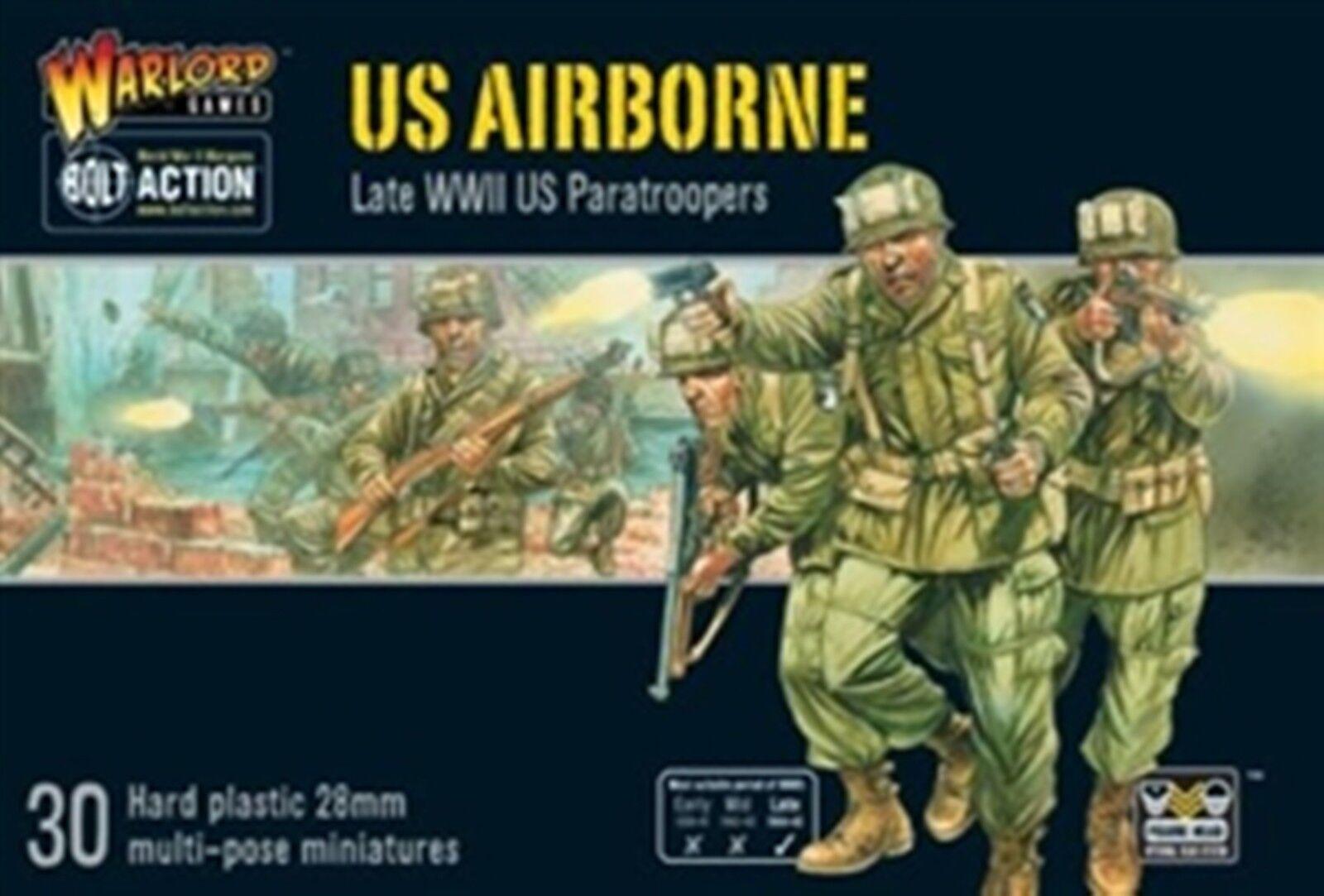 NY BOLT ÅTGÄRD MINISTRARE US AIRBORNE PLASTUS lådaED SETT WARS FIGURES 402013101